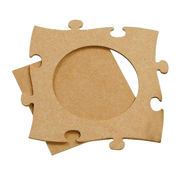 Cadre puzzle, rond  Loisirs créatifs VBS Hobby