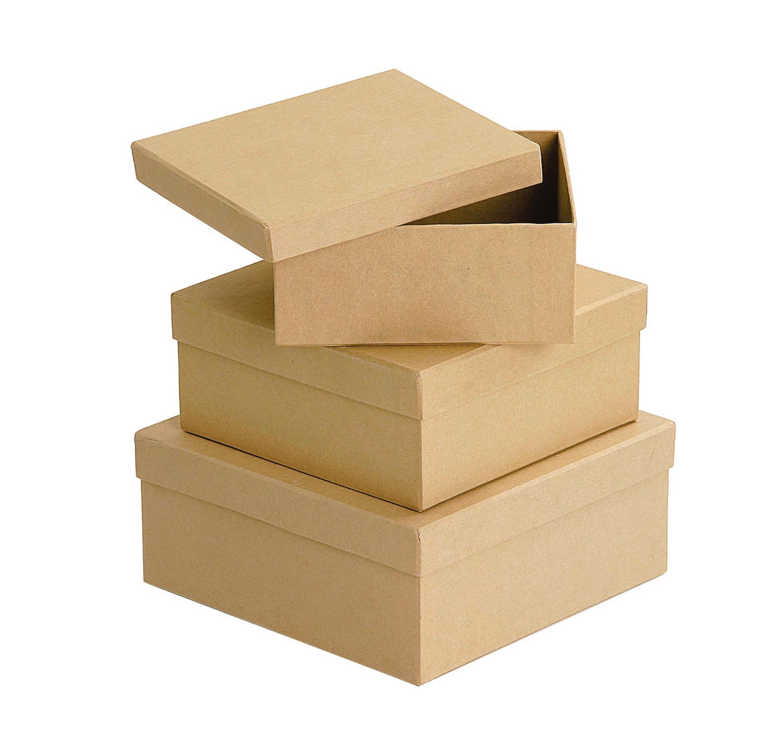 vbs quadratschachteln aus karton naturfarben 3er set vbs hobby bastelshop. Black Bedroom Furniture Sets. Home Design Ideas