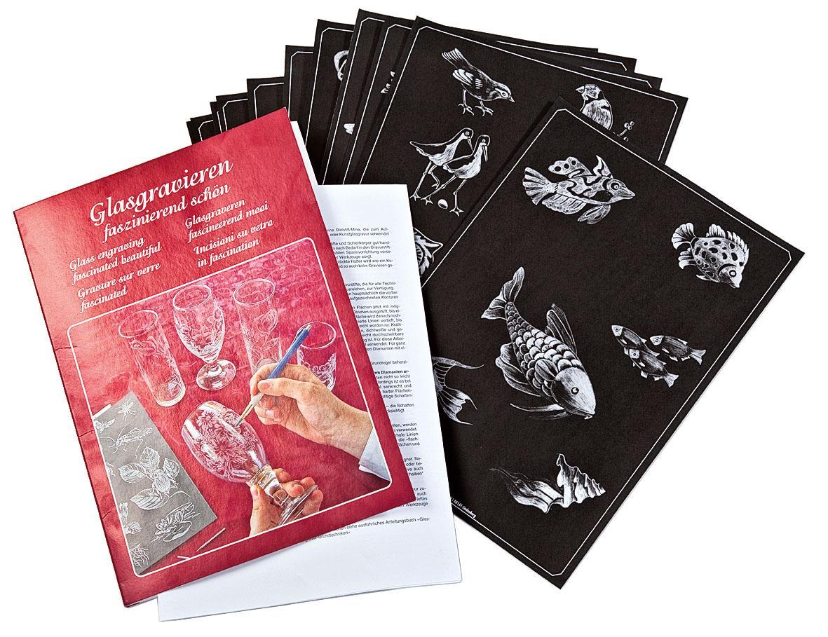Vorlagenbuch Glasgravieren faszinierend schön | VBS Hobby Bastelshop