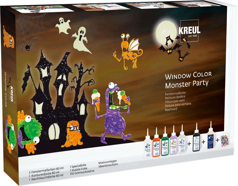 kreul window color set monsterparty vbs hobby bastelshop. Black Bedroom Furniture Sets. Home Design Ideas