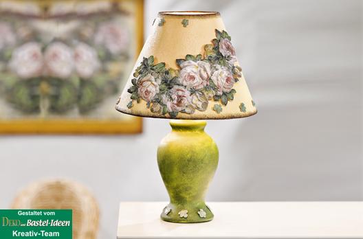 lampe mit motiv strohseide im landhaus stil vbs hobby bastelshop. Black Bedroom Furniture Sets. Home Design Ideas