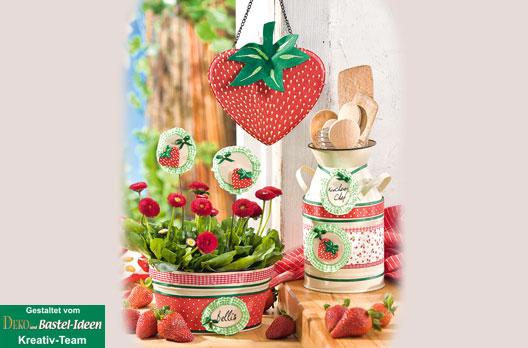 Deko im Erdbeeren-Look | VBS Hobby Bastelshop