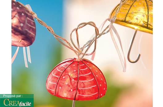 guirlande lumineuse petits parapluies loisirs cr atifs petits prix vbs hobby service. Black Bedroom Furniture Sets. Home Design Ideas