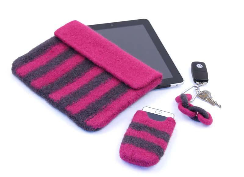 Tablet- und Smartphonetasche aus Strickfilz | VBS Hobby Bastelshop