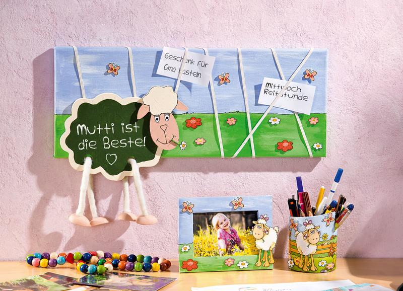 notizbrett f r das kinderzimmer bastelshop und hobby vbs. Black Bedroom Furniture Sets. Home Design Ideas