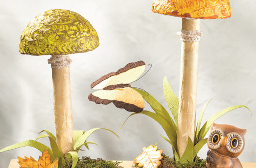 herbstliche pilze aus styropor kugeln bastelshop und. Black Bedroom Furniture Sets. Home Design Ideas