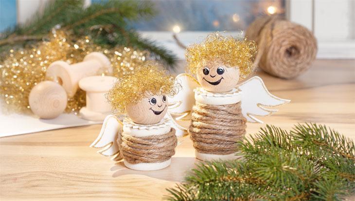 Vbs kreativ set weihnachtsengel vbs hobby bastelshop - Engel basteln aus naturmaterialien ...