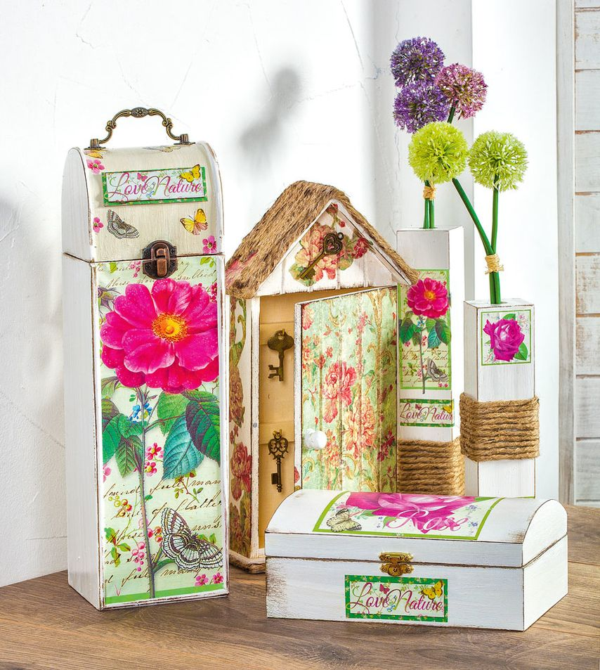 was ist decoupage und anleitung vbs hobby. Black Bedroom Furniture Sets. Home Design Ideas