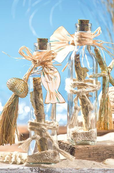 dekorative flaschenpost bastelshop und hobby vbs