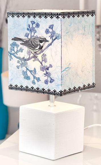 anleitung lampenschirm mit strohseide in schwarz wei selbst gestalten vbs. Black Bedroom Furniture Sets. Home Design Ideas