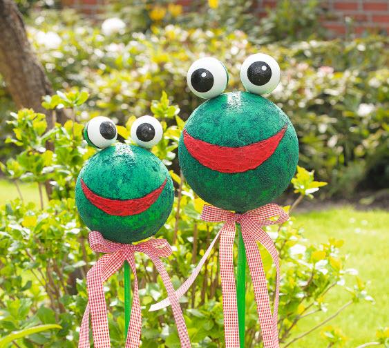 anleitung: wetterfeste frosch gartenkugeln | vbs hobby bastelshop, Garten Ideen