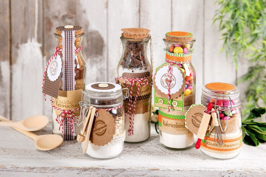 Anleitung Backmischungen Im Glas Mit Rezept Für Bunte Cookies Vbs