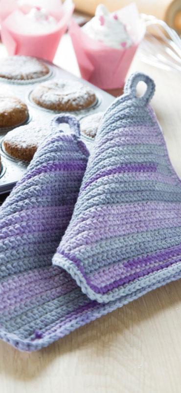 Topflappen aus Cotton Home Baumwollgarn | VBS Hobby Bastelshop