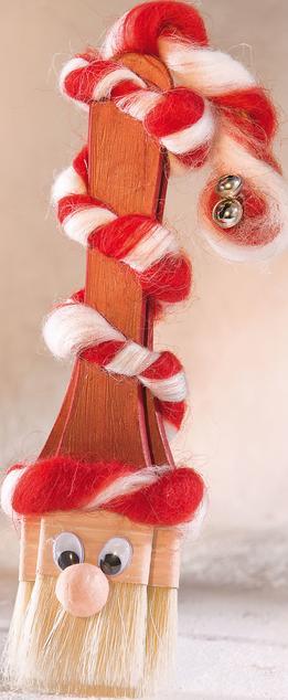 Weihnachtsmann aus Pinseln | VBS Hobby Bastelshop