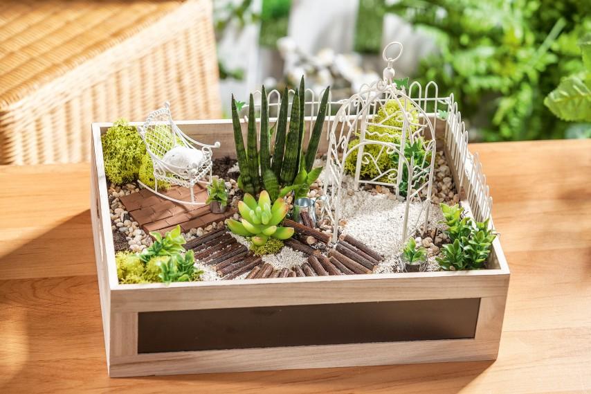 Mini Garten In Der Holzkiste Vbs Hobby Bastelshop