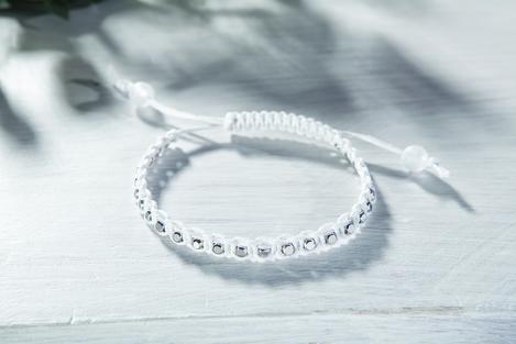 Häufig Makramee-Armband mit Würfel-Metall-Perlen   VBS Hobby Bastelshop TE97