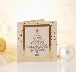 Machen Sie 50 Weihnachtskarten mit Stempel