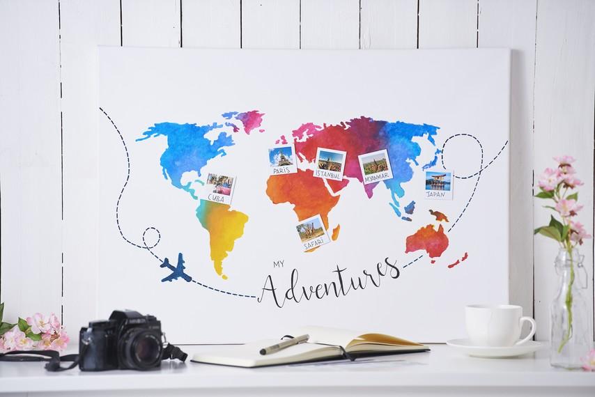 Bunte Weltkarte Auf Keilrahmen Vbs Hobby Bastelshop