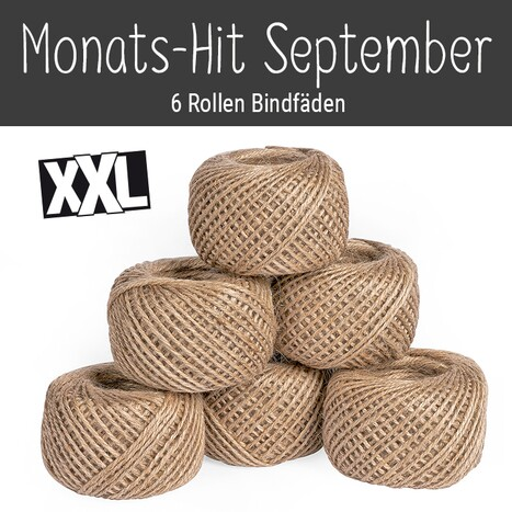 Monats-Hit September: 6 Rollen Bindfäden