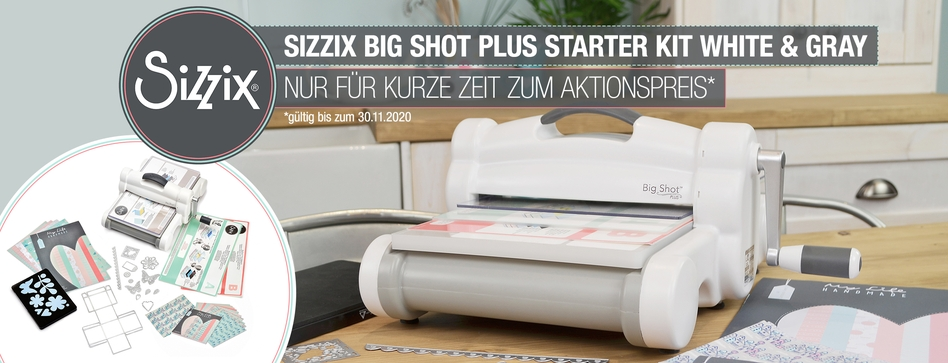 Preisaktion Sizzix Big Shot Plus Starter Kit White & Gray