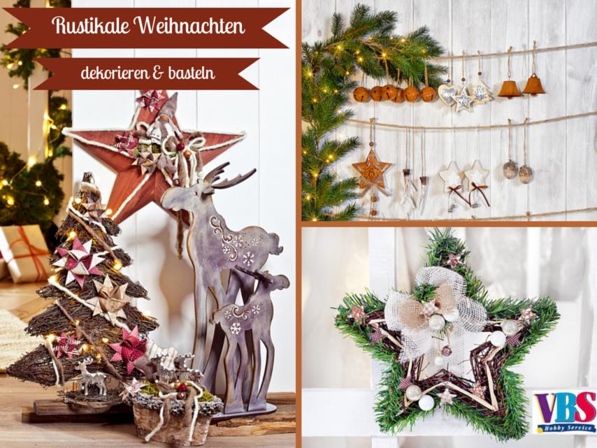 Landhausstil deko weihnachten  Rustikale Weihnachten VBS Hobby