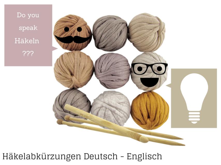 Häkelabkürzungen Deutsch Englisch VBS Hobby