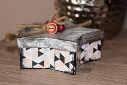 weihnachtsdeko selbermachen schachtel beton und kupferlook vbs hobby, Best garten ideen