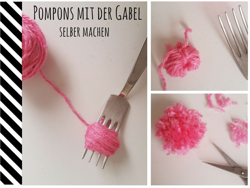Pompons Mit Gabel Selber Machen Vbs Hobby
