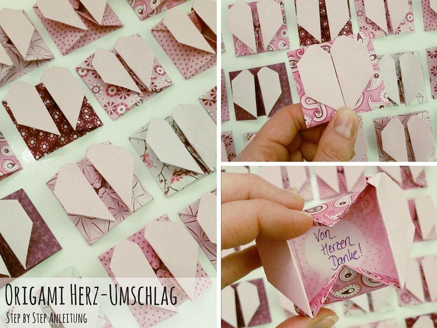Fabulous Anleitung Origami Herz mit Fach falten VBS Hobby LQ31