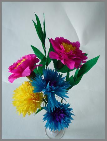 papierblumen basteln anleitung fuer verschiedene