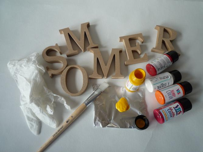 Buchstaben deko basteln schritt f r schritt anleitung f r sommerdeko vbs hobby - Sommerdeko basteln ...