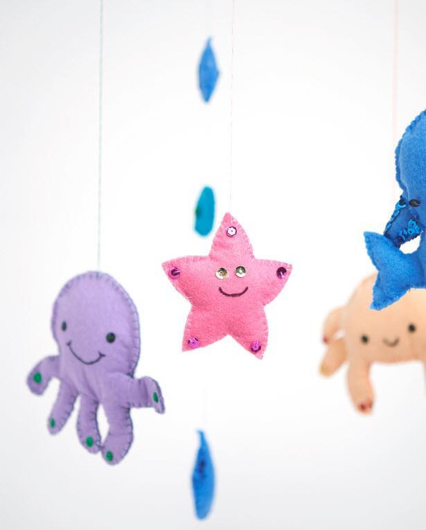 Mobile Mit Meerestieren Für Babys Basteln Vbs Hobby