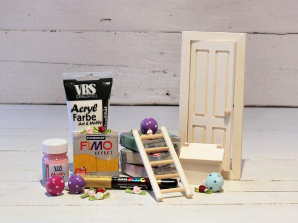 bastelidee wichtelt r feent r mit fimo verziert vbs hobby. Black Bedroom Furniture Sets. Home Design Ideas