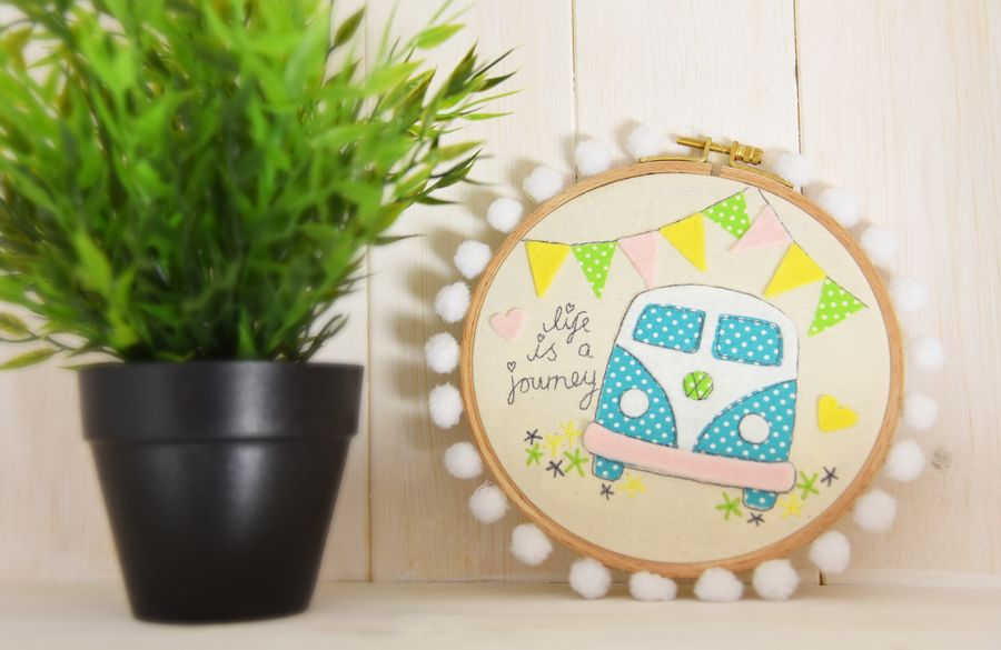 Sizzix Stickring-Idee: Campervan