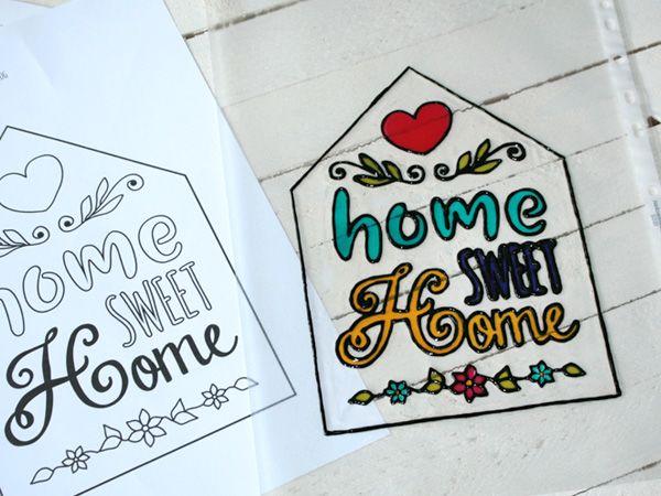 Anleitung Turschild Home Sweet Home Vbs Hobby