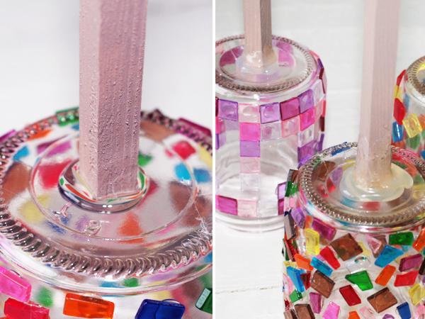 Windlicht glas mosaik selber machen wohn design for Gartendekoration glas