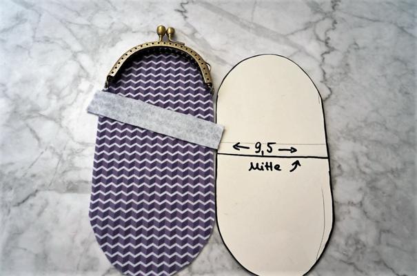 Portemonnaie aus Filz mit Bügelverschluss und Etikett selber nähen ...