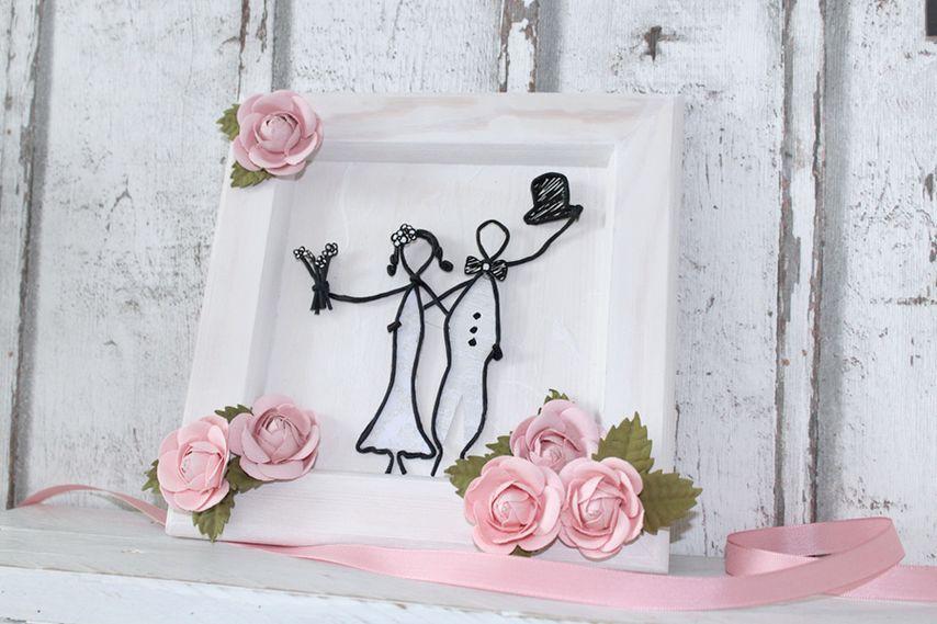 Hochzeitsgeschenk Basteln Bilderrahmen Vbs Hobby
