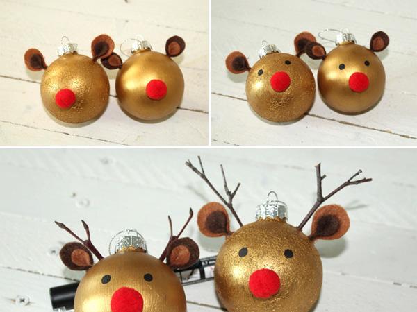 Basteln Mit Filz Zu Weihnachten Rentier Weihnachtskugeln