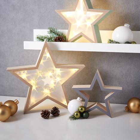 Leuchtende Holz Sterne Vbs Hobby Bastelshop