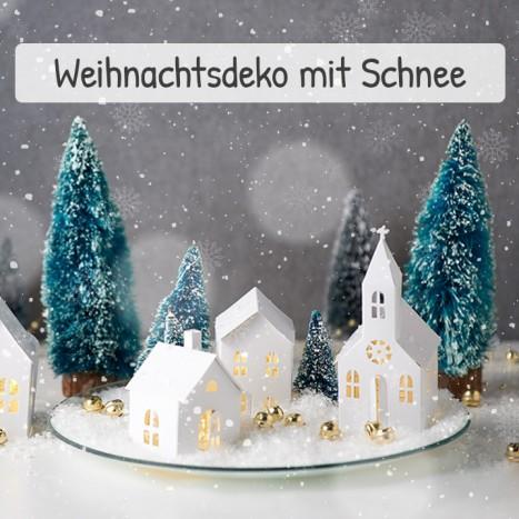 Gebastelte Weihnachtsdeko.Weihnachtsdeko Mit Schnee
