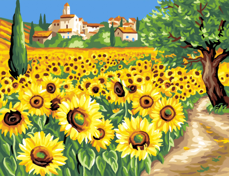 """Malen nach Zahlen """"Sonnenblumen"""""""