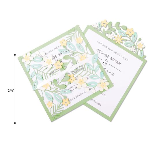 "Sizzix Thinlits Stanzschablone ""Floral Edges 2"""
