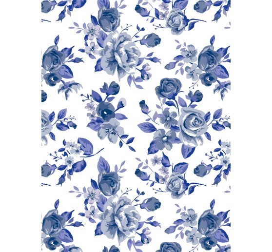 Papier Décopatch « Bloomy Blue », 3 pc.