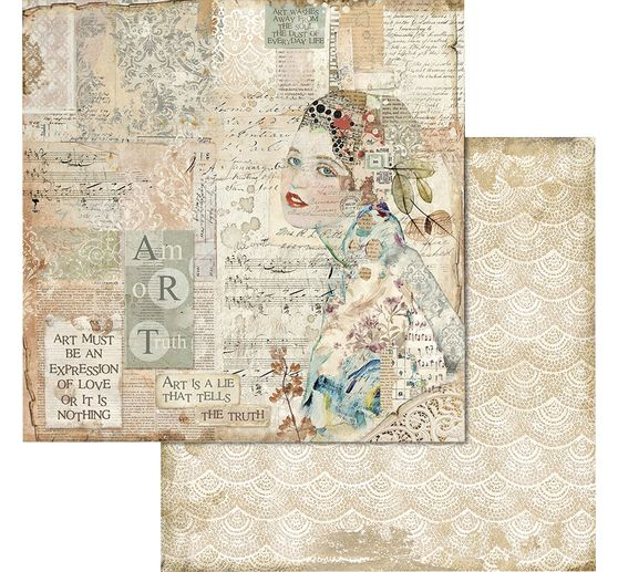 "Scrapbook-Block ""Imagine"""