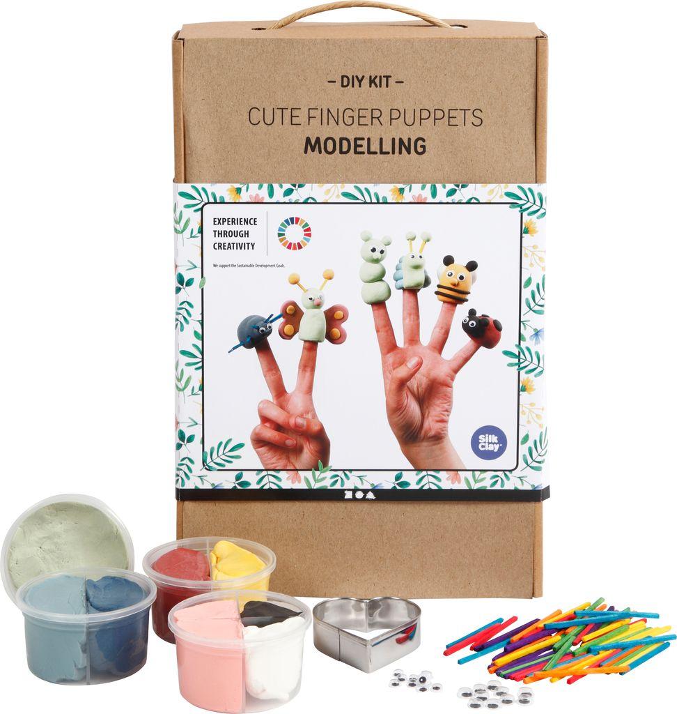 Bastelset zum Modellieren von Fingerpuppen