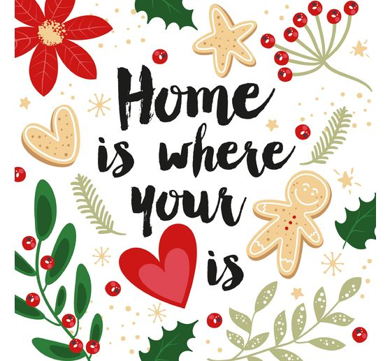 "Serviette ""Home is where your heart is"""