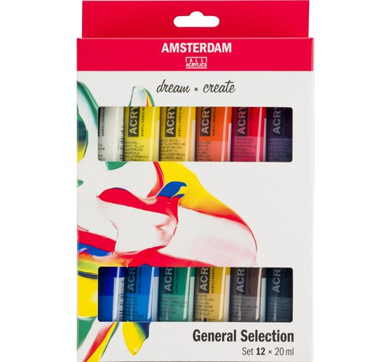 "Talens AMSTERDAM Acrylfarben-Set ""General Selection 12"""
