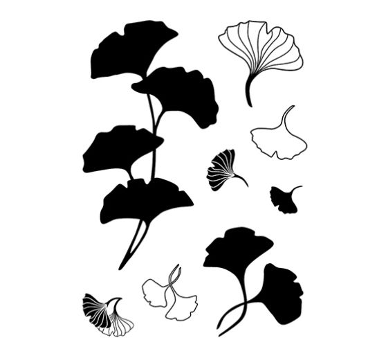 "Clear Stamps ""Ginkgo"""