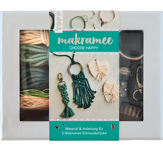 "Makramee-Schmuckset ""Choose Happy"""
